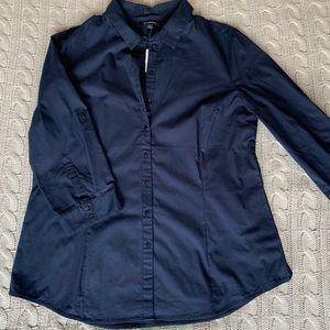 "Le Chateau navy 3/4"" sleeve blouse"